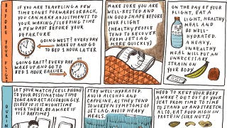 Illustration for article titled Avoid Jet Lag with This Start to Finish Cheat Sheet