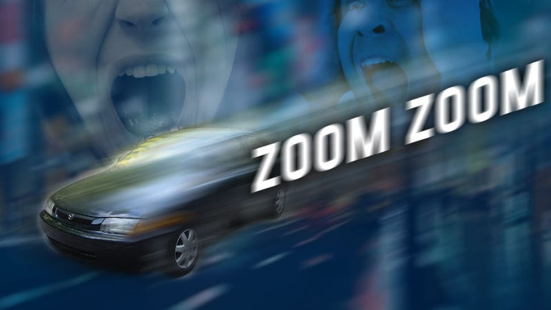 Illustration for article titled Two Teens Survive Insane Jump From Out-Of-Control Mazda