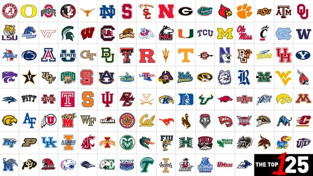 College Football Symbols 125 College Football Teams