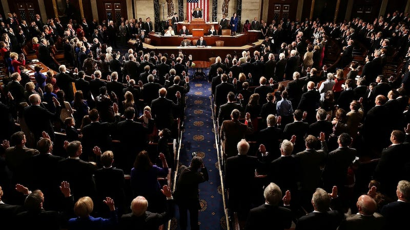 Illustration for article titled Congress Won't Be 50 Percent Female Until 2121, Study Finds