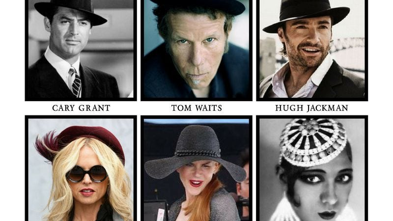 Illustration for article titled Tom Waits, Hugh Jackman, and Rachel Zoe inducted into the Headwear Hall Of Fame