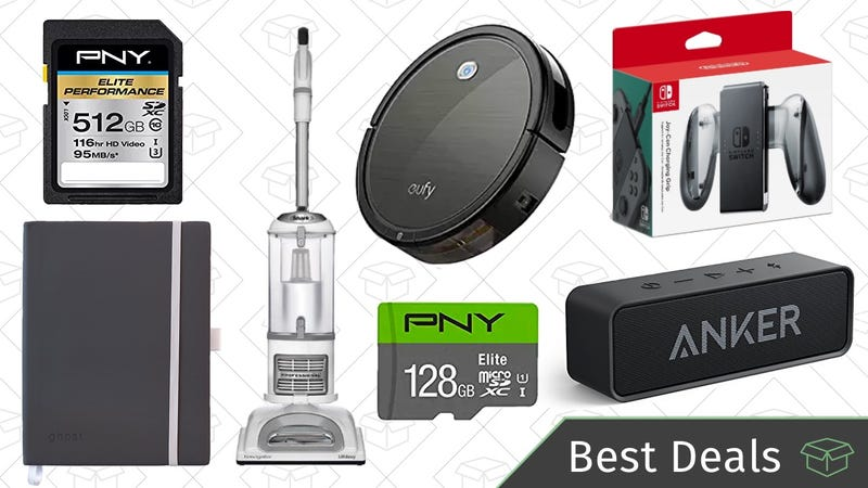 Illustration for article titled Monday's Best Deals: Flash Storage Sale, Robotic Vacuum, Reader-Favorite Bluetooth Speaker, and More