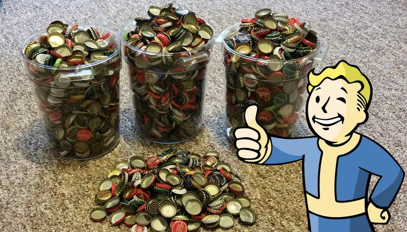 Illustration for article titled Bethesda acepta las chapas de refresco de un fan como pago por Fallout 4