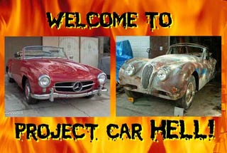 Illustration for article titled PCH, High Cost Of Admission Edition: Mercedes-Benz 190SL or Jaguar XK140?