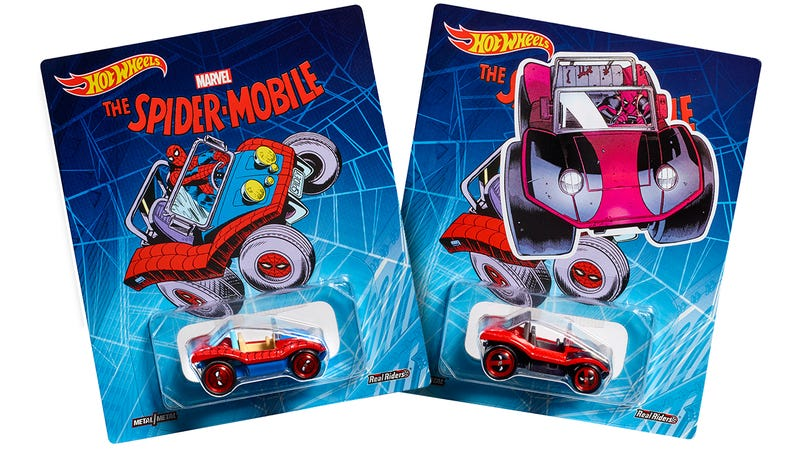 Illustration for article titled Spider-Man's Ridiculous Spider-Mobile Returns as Hot Wheels' Comic-Con Exclusive