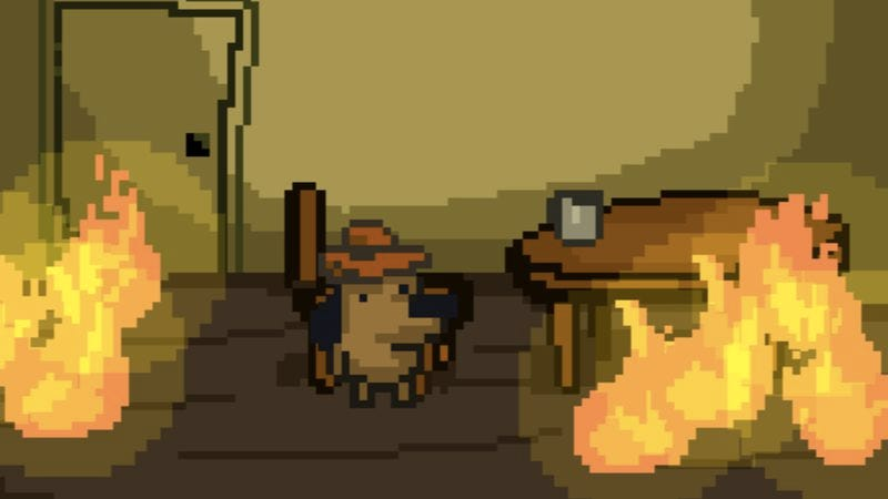 """Illustration for article titled Someone made a free game about the """"This Is Fine"""" dog, and it's surprisingly lovely"""