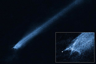 Illustration for article titled For the first time, Hubble finds the wreckage of an explosive asteroid collision