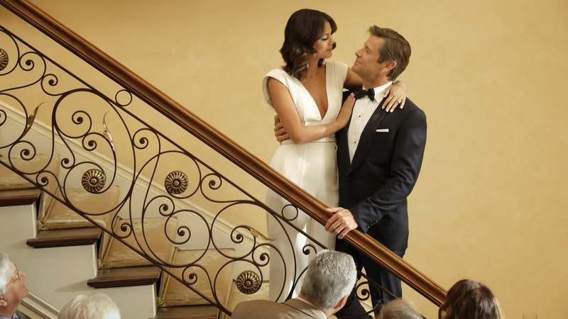 Nathalie Kelley and Grant Show in Dynasty (Photo: Mark Hill/The CW)