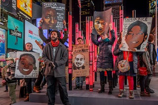 The NYC Shut It Down #PeoplesMonday action on Feb. 13, 2017, in New York City. (Erik McGregor/Pacific Press/LightRocket via Getty Images)