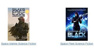 Illustration for article titled Amazon Doesn't Want Me To Mix Up Space Marine Fiction With Space Fleet Fiction