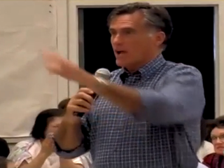 Illustration for article titled VIDEO: Romney Gets Testy at Town Hall