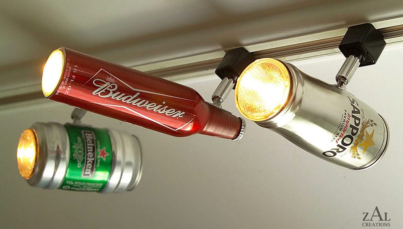 Illustration for article titled Instantly Class Up Any Room With Beer Can Lighting
