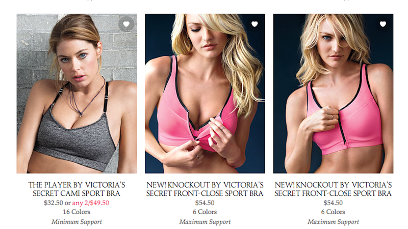 Illustration for article titled Nobody Wants to Buy Victoria's Secret's Dumb 'Sexy' Sports Bras