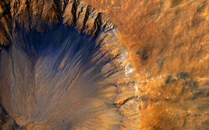 Agua en Marte. NASA