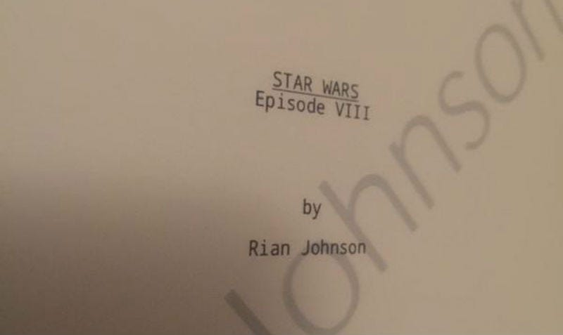 Illustration for article titled The Director of Star Wars Episode VIII Is Totally Messing With Me on Twitter