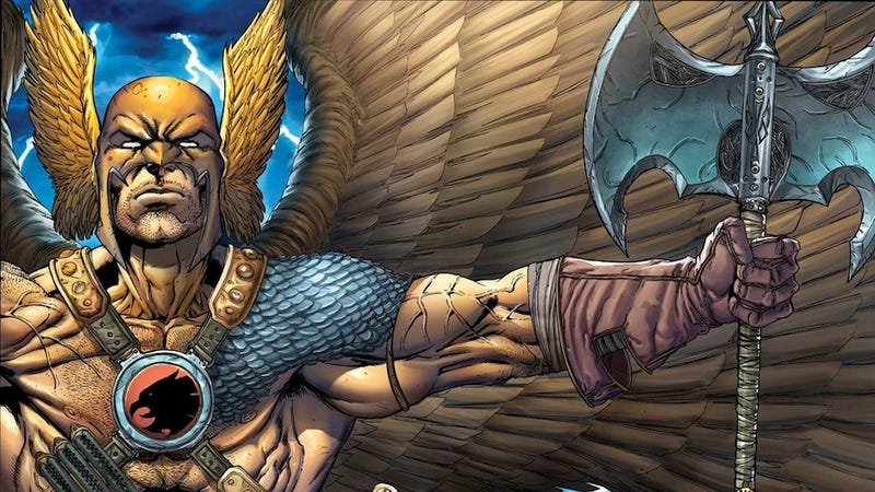 Illustration for article titled The 10 Hilariously Confusing Origins of Hawkman