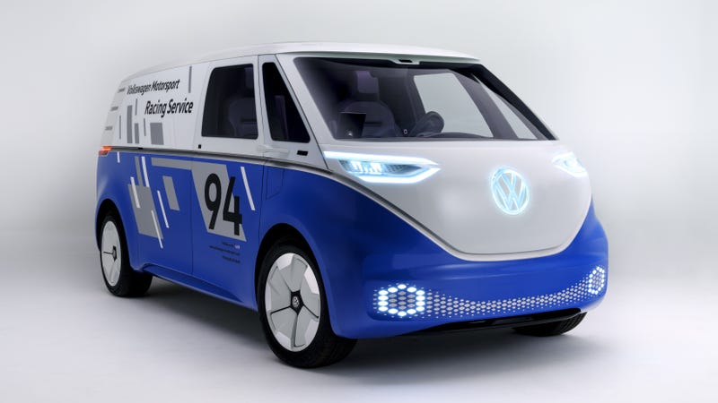 Illustration for article titled The Volkswagen I.D. Buzz Cargo Is the Future of Home Delivery