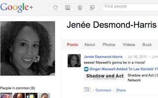 Jenée Desmond-Harris' Google Plus Page