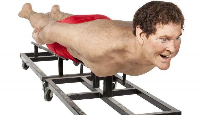 Illustration for article titled Buy a lifelike model of David Hasselhoff or other insane things