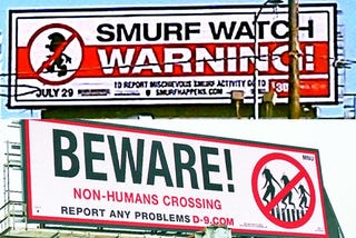 Illustration for article titled Sony openly warning you to avoid The Smurfs