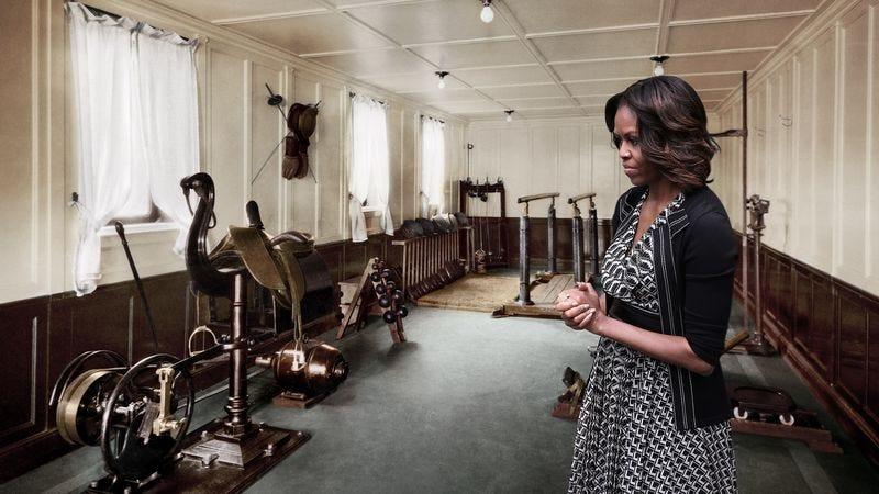 Illustration for article titled Michelle Obama Renovates Van Buren Workout Room