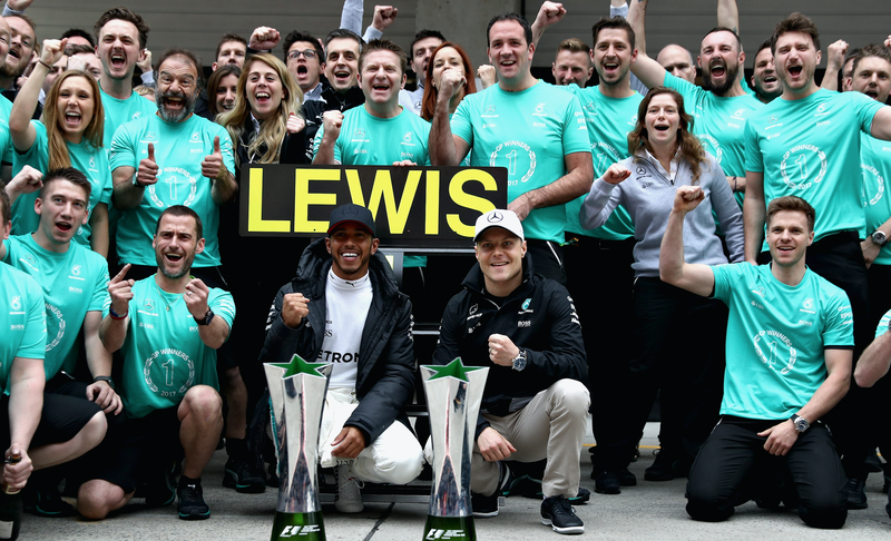 Where is Valtteri Bottas' sign? Maybe they can't remember his name long enough to make one. Photo credit: Mark Thompson/Getty Images