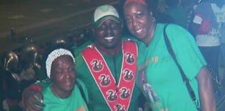FAMU drum major Robert Champion (center) died after a November 2011 hazing ritual for the marching band.  Courtesy of Champion Family