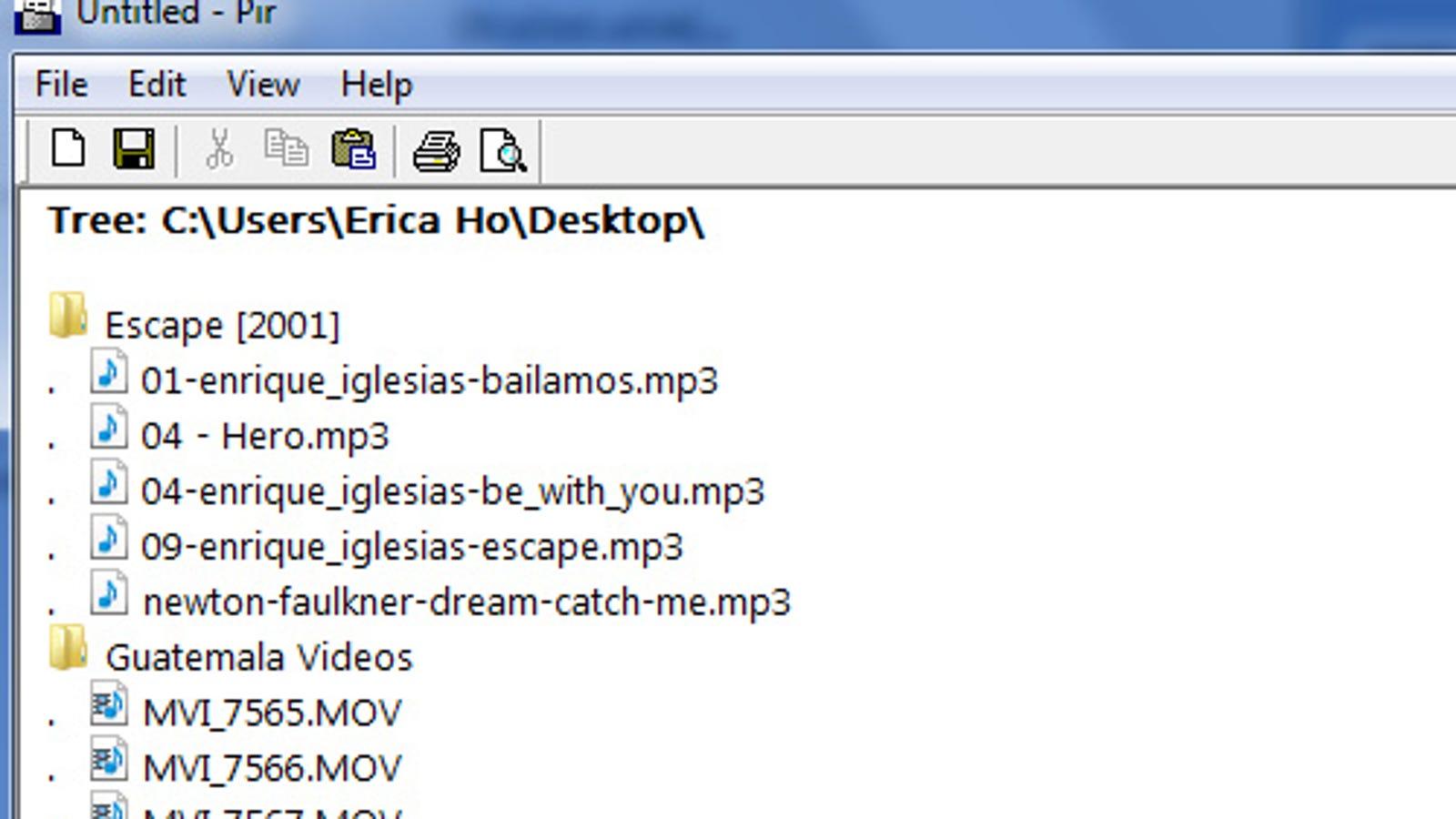 Forskellige Pir Creates Directory Folder and File Lists IM18