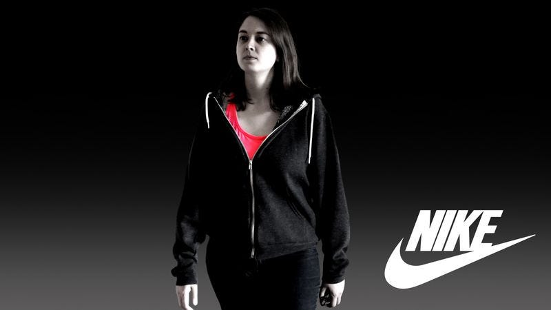 Illustration for article titled Nike Releases New Sports Bra For Wearing Directly Under Coat While Shambling Around Grocery Store