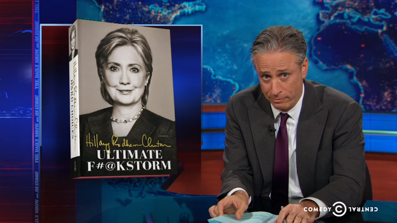 Illustration for article titled Hillary Clinton's Book Tour Has Gotten Ridiculous, Says The Daily Show