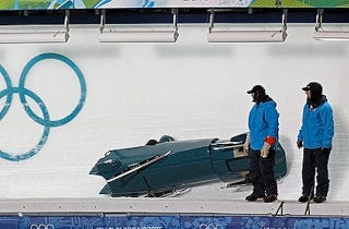 """Illustration for article titled Canadian Bobsleigher Almost Killed By """"Wood In His Buttock"""""""