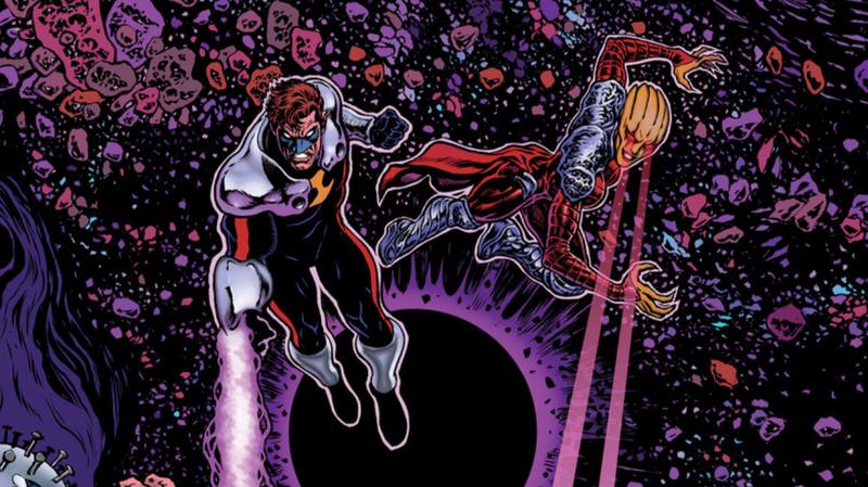 Hal Jordan and the space vampire Countess Belzebeth.