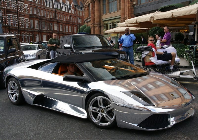 Chrome Lamborghini Murcielago Lp640 Roadster Blinds Us In London