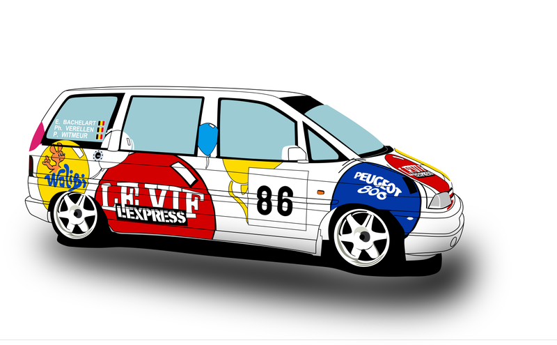 Illustration for article titled Minivans can also be racecars, sometimes, before they break.