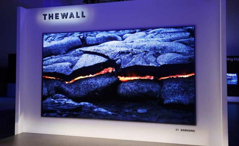 El nuevo televisor de Samsung es una pared (literalmente)