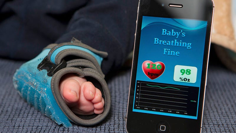 Illustration for article titled Heart-Rate-Monitoring Smart Socks Tell Parents, Yes, the Baby Is Still Breathing