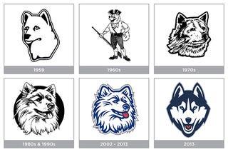 Illustration for article titled UConn's Logo Was Once A Very Sad Dog