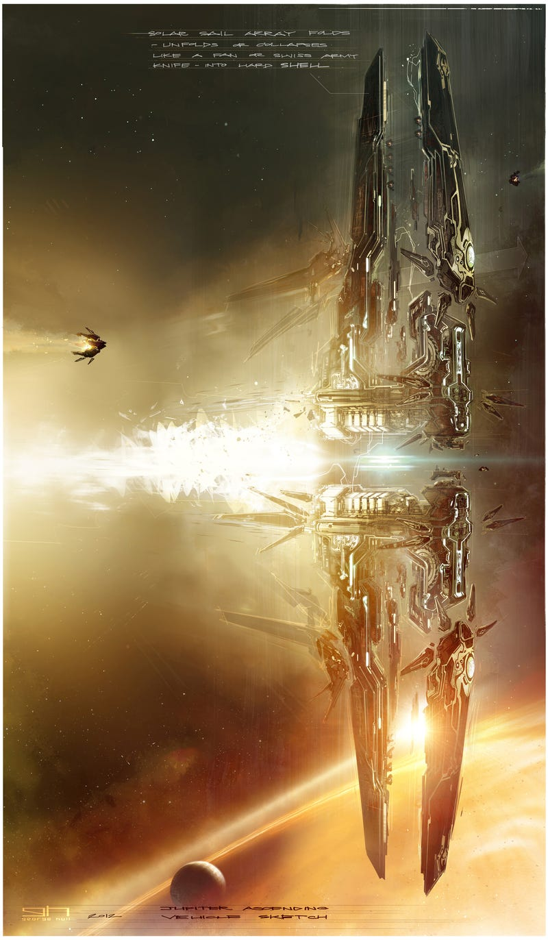 Illustration for article titled The concept art of Jupiter Ascending is glorious eye candy