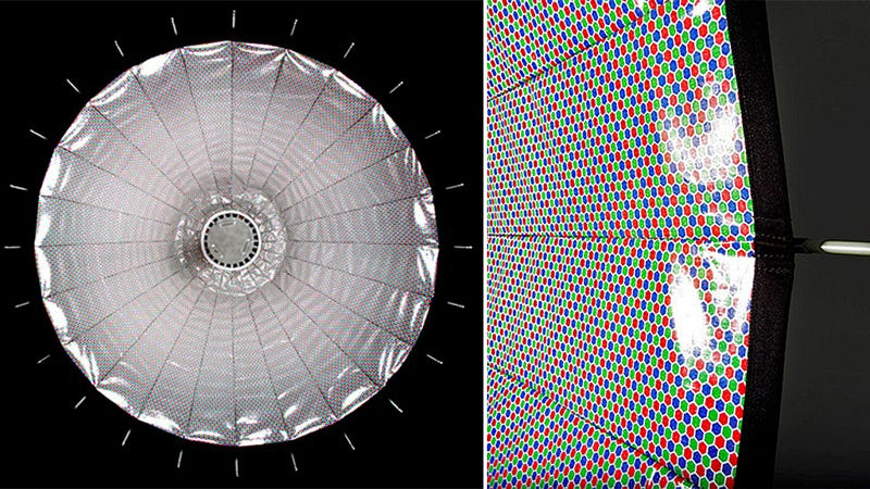 Illustration for article titled Can This RGB Dotted Reflector Really Improve Digital Camera Shots?