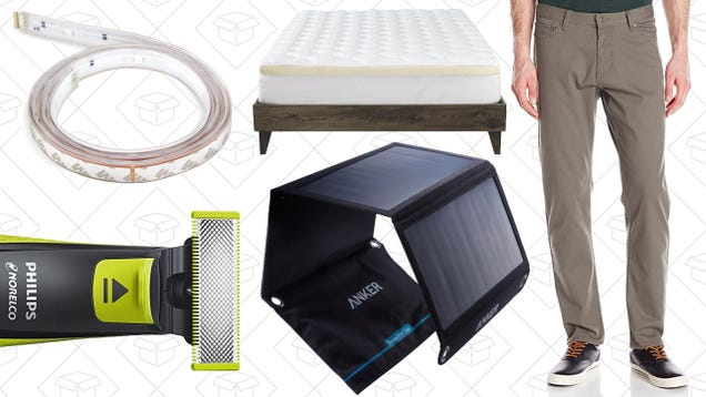 Today's Best Deals: Philips Hue, OneBlade Beard Trimmer, Amazon Dockers Sale, and More