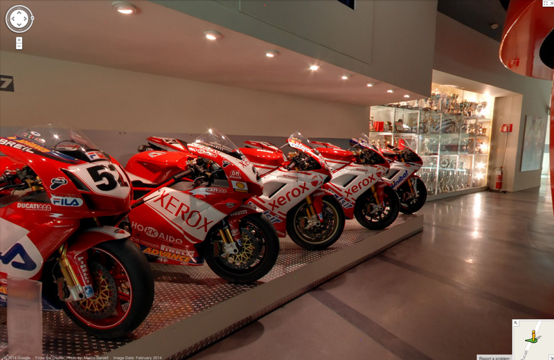 Illustration for article titled Visit The Ducati Museum On Google Street View