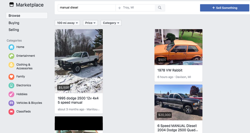 Illustration for article titled Facebook Marketplace Is Better Than Craigslist For Car Shopping