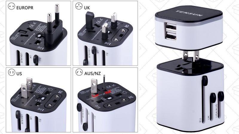 Adaptador internacional de viajes Tensun, $12 con el código TENSUN05