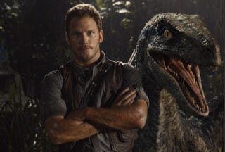 Illustration for article titled Jurassic World Image Shows Chris Pratt And His Best Friend—A Raptor