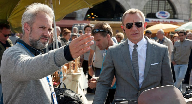 Sam Mendes with the star of A Kid In King Arthur's Court. Image: Sony