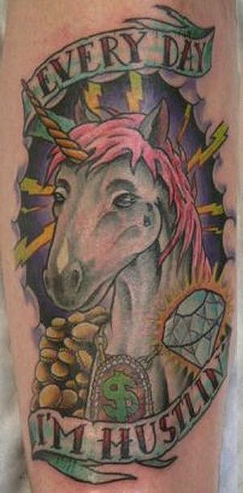Illustration for article titled 55 Bad Unicorn Tattoos