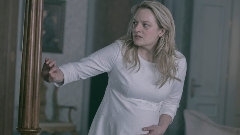 June (Elisabeth Moss) in one of the less horrifying moments of this episode of The Handmaid's Tale.
