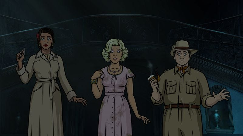 Illustration for article titled Archer goes full-on horror movie with its most brutal rampage yet