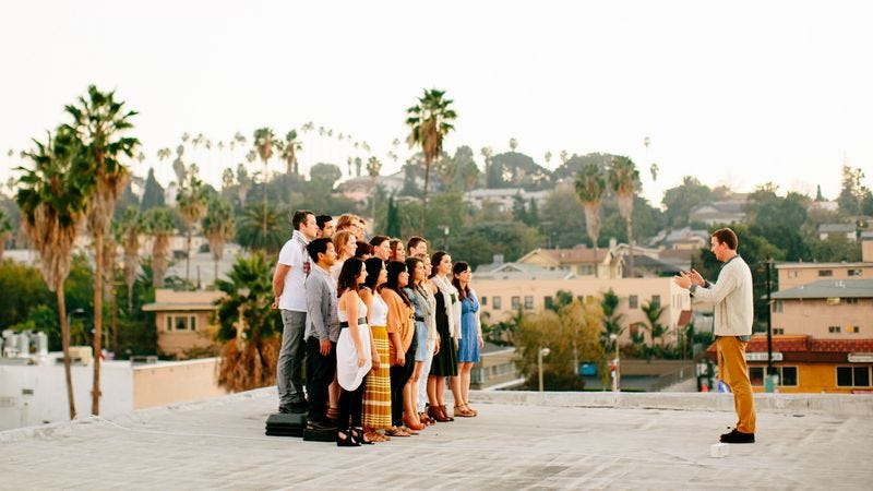 Illustration for article titled The Silver Lake Chorus teams up with Justin Vernon for an angelic look at L.A.