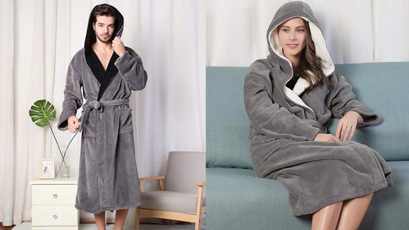 Kemusi Men's Bathrobe | $10 | Amazon | Small onlyKemusi Women's Bathrobe | $10 | Amazon | Small only